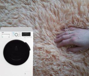 Стирка пледа с длинным ворсом в стиральной машине