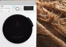 Стирка пледа травки в стиральной машине