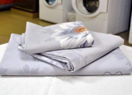 Стирка постельного белья из поплина в стиральной машине