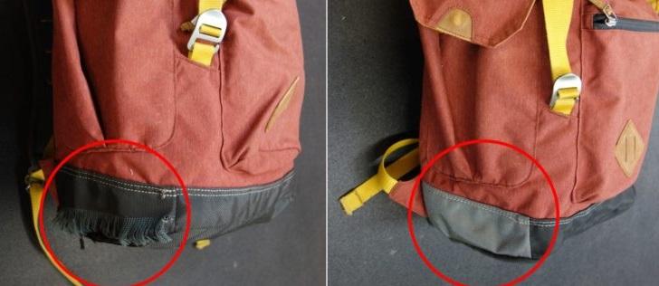 зашейте дырки в рюкзаке
