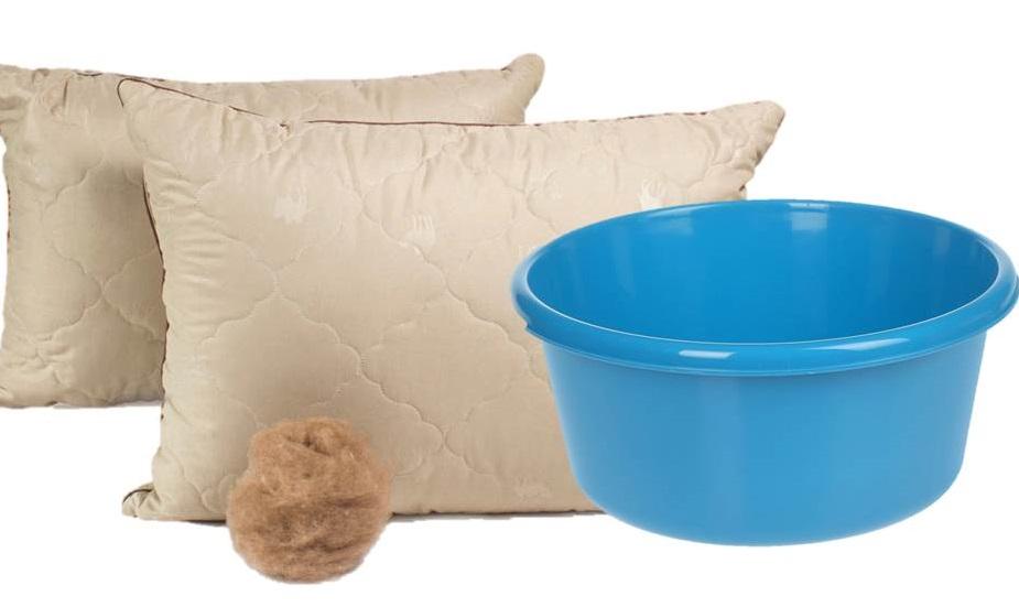 ручная стирка подушки из верблюжьей шерсти