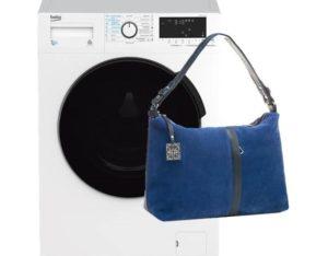 Как стирать замшевую сумку в стиральной машине?