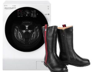 Можно ли постирать сапоги в стиральной машине?
