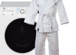 Стирка кимоно для дзюдо в стиральной машине