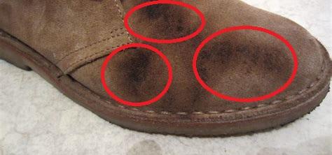 берегите замшевую обувь