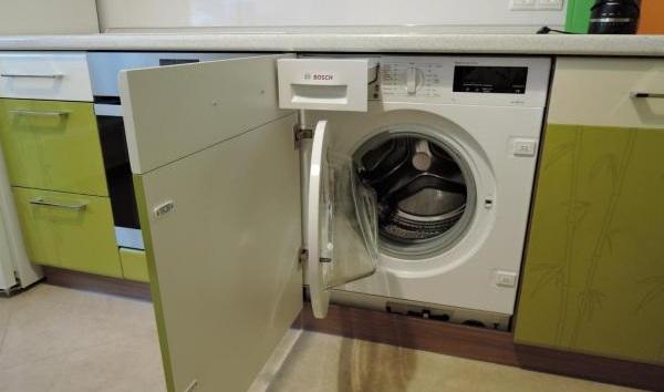встраивание стиральной машины Бош