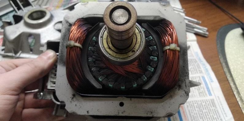 медь в двигателе стиралки