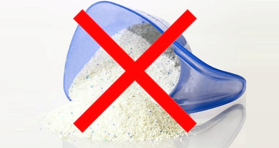 не используйте стиральный порошок