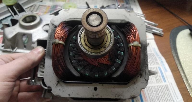пробита обмотка двигателя машинки Бош