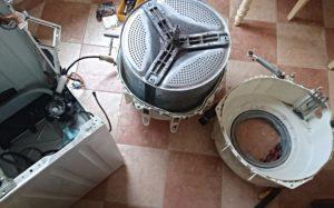 Как снять барабан на стиральной машине Канди?