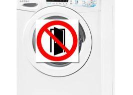 Не открывается стиральная машина Candy