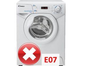 Ошибка E07 в стиральной машине Канди