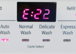 Ошибка E22 в стиральной машине Канди
