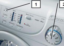 Перезагрузка стиральной машины Канди