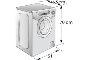 Размеры стиральной машины Candy