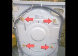 Где находятся транспортные болты стиральной машины Занусси?