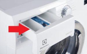 Куда сыпать порошок в стиральной машине Electrolux