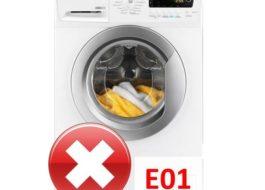 Ошибка E01 в стиральной машине Занусси