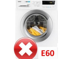 Ошибка E60 в стиральной машине Занусси