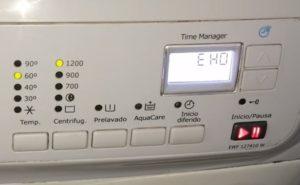 Ошибка EHO в стиральной машине Электролюкс