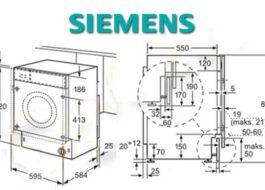 Габариты стиральной машины Siemens
