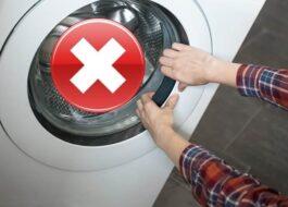Как открыть дверцу стиральной машины Haier?