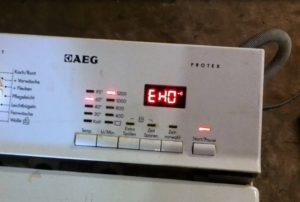 Ошибка EH0 в стиральной машине AEG