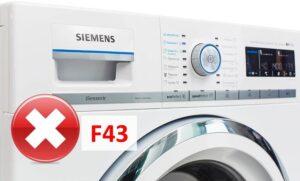 Ошибка F43 в стиральной машине Сименс
