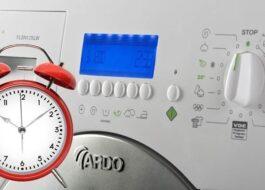 Сколько времени длится стирка в стиральной машине Ardo?