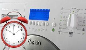 Сколько времени длится стирка в стиральной машине Ardo