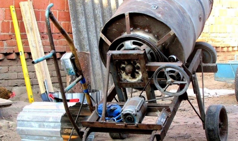 бетономешалка из мотора СМ Ардо