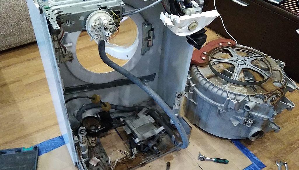 конструктивные элементы стиральной машины Вирпул