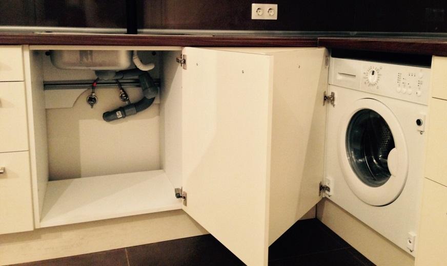 подготовка места под стиральную машину АЕГ