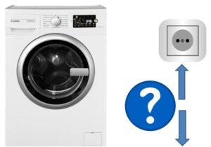 Высота установки розетки для стиральной машины