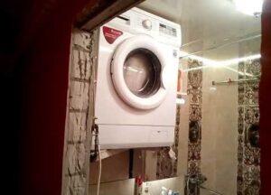 Как повесить на стену стиральную машину
