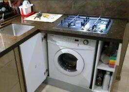 Можно ли поставить варочную панель над стиральной машиной?