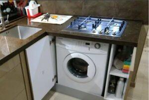 Можно ли поставить варочную панель над стиральной машиной