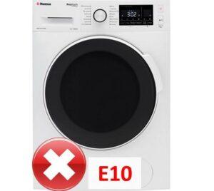 Ошибка E10 в стиральной машине Hansa