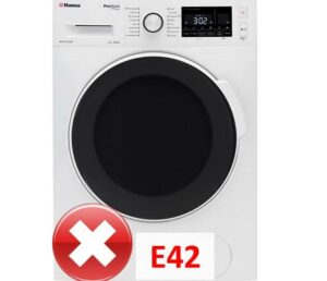 Ошибка E42 в стиральной машине Hansa