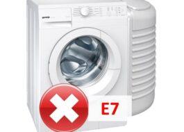 Ошибка E7 в стиральной машине Gorenje
