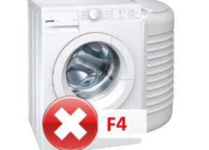 Ошибка F4 в стиральной машине автомат Gorenje