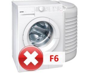 Ошибка F6 в стиральной машине Gorenje