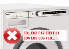 Ошибки стиральных машин Asko