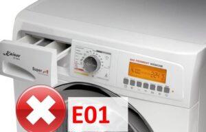 Стиральная машина Kaiser выдает ошибку E01