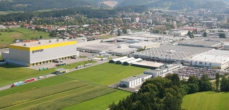 завод где делают СМ Горенье в Словении