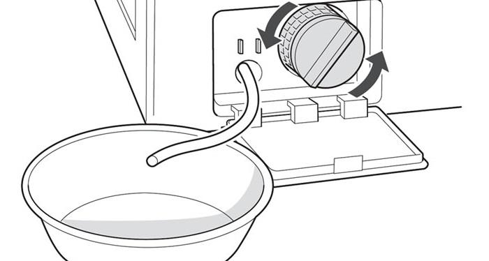 сливаем воду из машинки Вестел