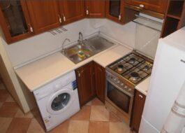 Как разместить на маленькой кухне холодильник и стиральную машину?