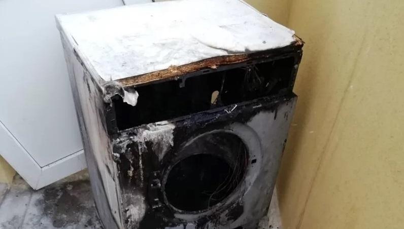 загорелась стиральная машина