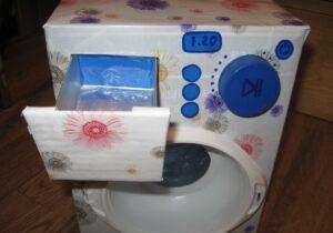 Делаем стиральную машину из бумаги