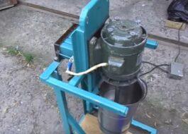 Дробилка-измельчитель для яблок из стиральной машины